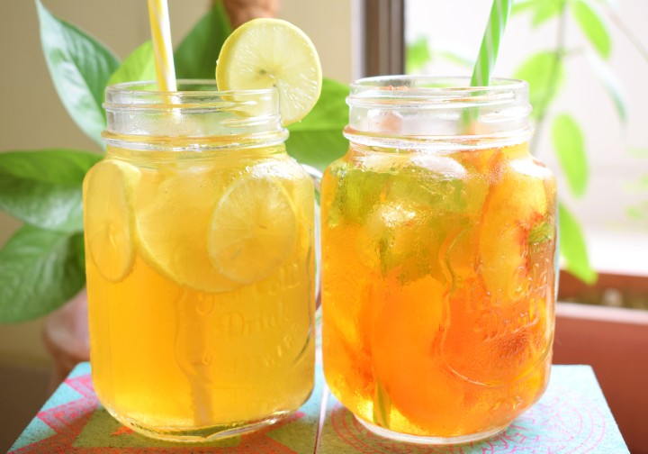 Lemon and Peach Ice Tea